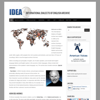 IDEA International Dialects of English Archive - free dialect and accent recordings for the performing arts