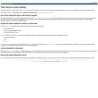 GlassFish Server 3.1.2 - Server Running