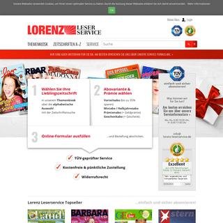 Zeitschriften Abo günstig & sicher abonnieren • Lorenz Leserservice