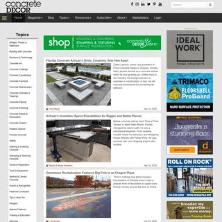 Concrete Decor Magazine - Decorative Concrete - Concrete Decor