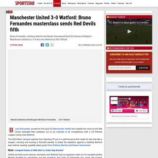 ArchiveBay.com - sportstar.thehindu.com/football/epl/manchester-united-beats-watford-bruno-fernandes-martial-greenwood-goals/article30896989.ece - Bruno Fernandes masterclass sends Manchester United fifth - Sportstar