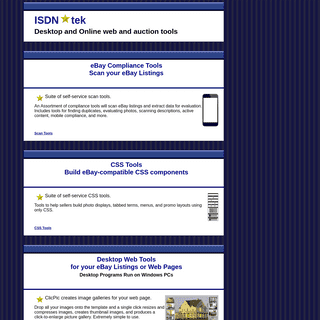 Web and Auction Tools from ISDN-tek