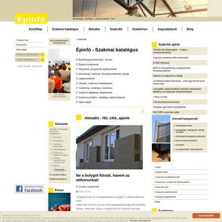 Épinfó - Építőanyag, építőipar, lakberendezés, kert