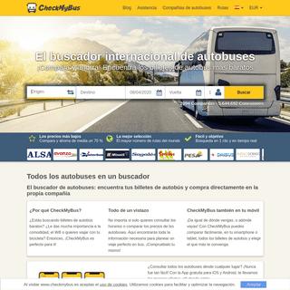 Todos los autobuses en un buscador • CheckMyBus