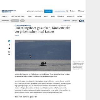 Kind ertrinkt vor griechischer Insel Lesbos