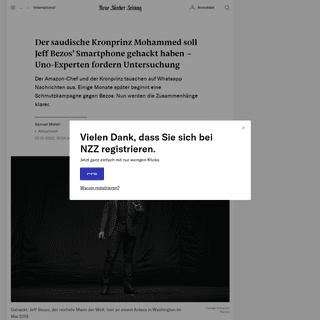 Der saudische Kronprinz Mohammed soll Jeff Bezos gehackt haben