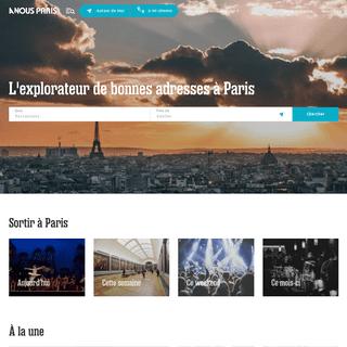 A Nous Paris - L'explorateur de bonnes adresses à Paris