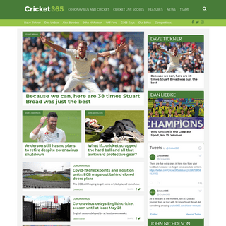 Cricket365.com - Love the game as much as we do