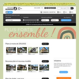 Plan de maison, plan de chalet - modèles Dessins Drummond