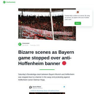 Bizarre scenes as Bayern game stopped over anti-Hoffenheim banner 🛑