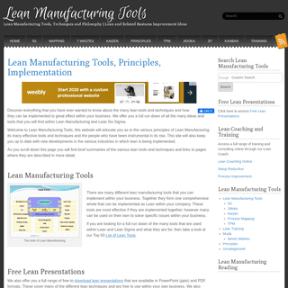 Lean Manufacturing Tools