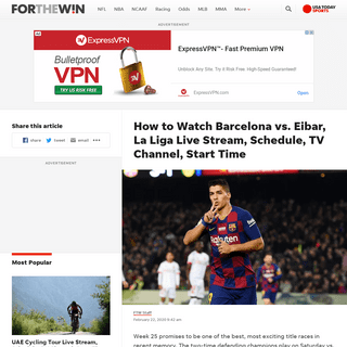 Barcelona vs. Eibar Live Stream- TV Channel, How to Watch