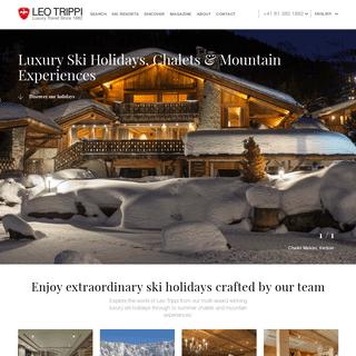 Luxury Ski Holidays - Mountain Travel Since 1882 - Leo Trippi