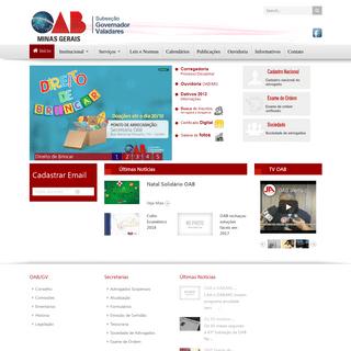 .--OAB Governador Valadares--. - Início