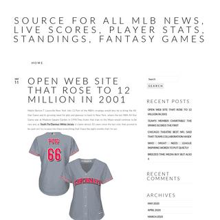 Source For All MLB News, Live Scores, Player Stats, Standings, Fantasy Games – Baseball News, Baseball Teams