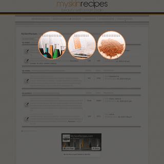 MySkinRecipes - สังคมแบ่งปันความรู้ส่วนประกอบเครื่องส�