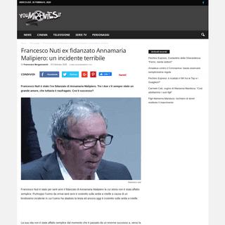 Francesco Nuti ex fidanzato Annamaria Malipiero- un incidente terribile