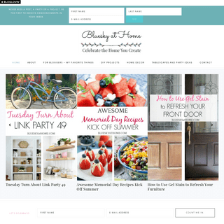Bluesky at Home ~ Celebrate the Home you Create ~ Home decor, DIY projects, recipes, tablescapes