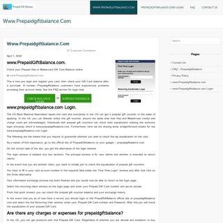 Prepaidgiftbalance.com Login OFFICIAL - Balance Check