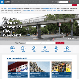 San Francisco Municipal Transportation Agency (SFMTA, transit, streets, taxi) - SFMTA