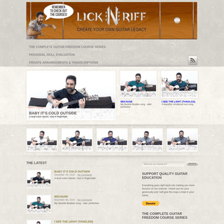 LickN'Riff – Create Your Own Guitar Legacy