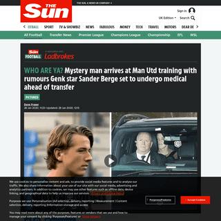 ArchiveBay.com - www.thesun.co.uk/sport/football/10836767/man-utd-sander-berge-transfer-medical/ - Mystery man arrives at Man Utd training with rumours Genk star Sander Berge set to undergo medical ahead of transfer – The Sun