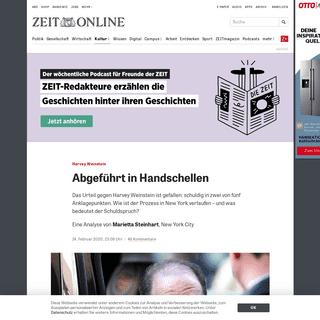 Harvey Weinstein- Abgeführt in Handschellen -ZEIT ONLINE