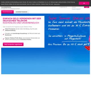 Partnerprogramm der Deutschen Telekom für Telekom und congstar Produkte - Telekom Profis
