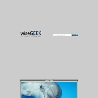 wiseGEEK- clear answers for common questions