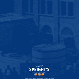 Age Gate - Speight's - Knowing what matters since 1876