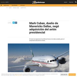 ¿Mark Cuban, dueño de Mavericks Dallas, compró el avión presidencial- - Mediotiempo