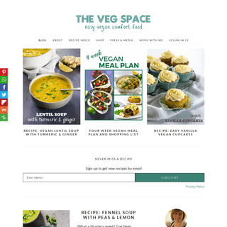 The Veg Space - easy vegan comfort food recipes