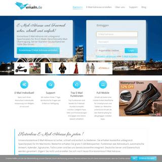Kostenlose E-Mail Adresse und Freemail Konto von emailn.de