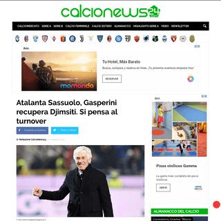 ArchiveBay.com - www.calcionews24.com/atalanta-sassuolo-gasperini-recupera-djimsiti-si-pensa-al-turnover/ - Atalanta Sassuolo, Gasperini recupera Djimsiti. Si pensa al turnover