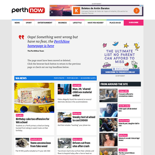 Page Not Found - PerthNow