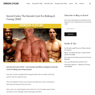 Steroid Cycles- The Steroids Cycle For Bulking & Cutting