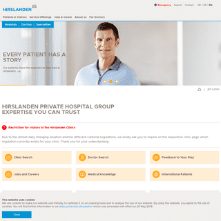 ArchiveBay.com - hirslanden.ch - Hirslanden Private Hospital Group, Switzerland