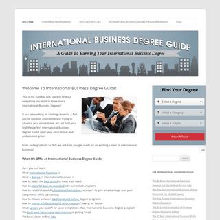 Welcome To International Business Degree Guide! - International Business Degree Guide