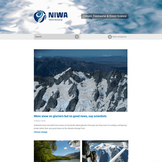 ArchiveBay.com - niwa.co.nz - NIWA - Climate, Freshwater & Ocean Science