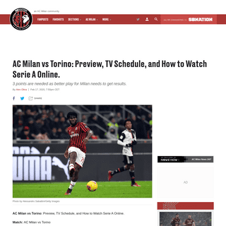 ArchiveBay.com - acmilan.theoffside.com/2020/2/17/21140955/ac-milan-vs-torino-preview-tv-schedule-and-how-to-watch-serie-a-online - AC Milan vs Torino- Preview, TV Schedule, and How to Watch Serie A Online. - The AC Milan Offside