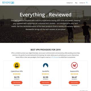 ReviewsDir Cloud Storage, Hosting & Backups - VPN & DNS Reviews