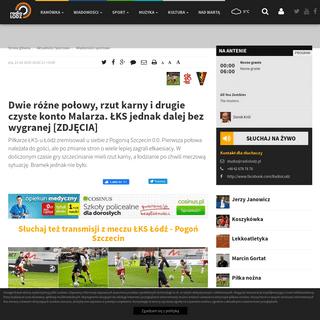 ArchiveBay.com - www.radiolodz.pl/sport/59125-lks-lodz-vs-pogon-szczecin-relacja-na-zywo-live-streaming-online - ŁKS Łódź - Pogoń Szczecin [RELACJA NA ŻYWO] — Radio Łódź