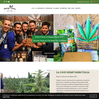 Hemp Farm Italia - Coltivazione e Produzione di Canapa Industriale