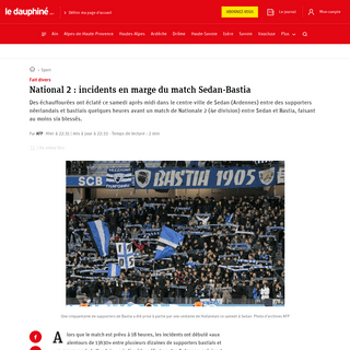 Sport - National 2 - incidents en marge du match Sedan-Bastia