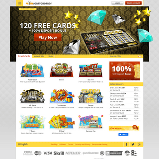 Online Scratch Cards – 120 FREE Games - PrimeScratchCards