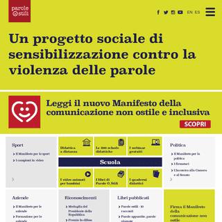 Progetto sociale di sensibilizzazione contro la violenza delle parole