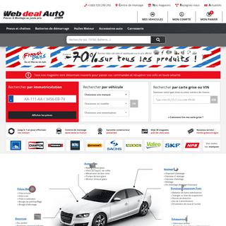 Piece auto pas cher – Pieces detachees auto neuves – WebdealAuto