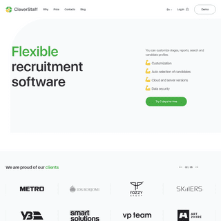 CleverStaff - Applicant tracking system. Customizable software for recruitment.