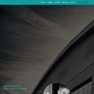 Adam DeHaven - Full-Stack Web Developer & UX Designer