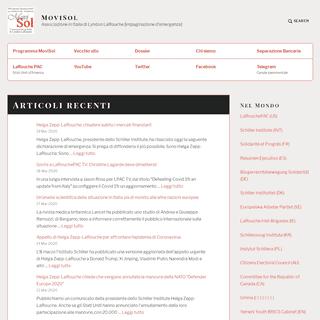 MoviSol – Associazione in Italia di Lyndon LaRouche [impaginazione d'emergenza]